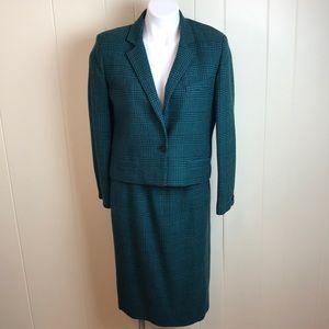 Vintage Dior 2pc Wool Career Skirt & Jacket Suit